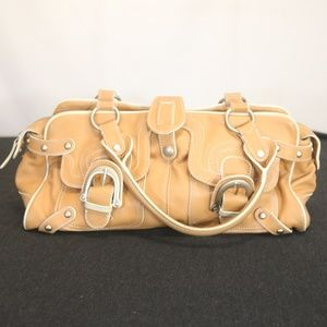Hype Women's Brown Leather Hand Bag Purse